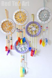 Paper Plat Dream Catchers
